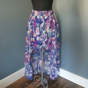 Charlotte Russe High low Aztec skirt